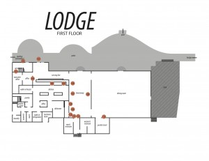 Lodge Map with Signs