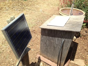 A solar powered water pump - something we'd like to use!